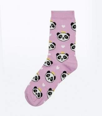 New Look Lilac Princess Panda Socks