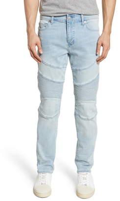 True Religion Brand Jeans Rocco Moto Skinny Fit Jeans