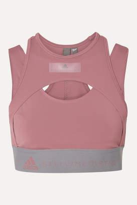 adidas by Stella McCartney Parley For The Oceans Hybrid Layered Stretch Sports Bra - Blush