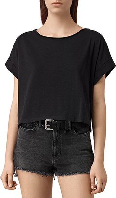 ALLSAINTS Tyler Cropped Cotton Tee $50 thestylecure.com