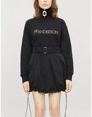 J.W.Anderson High-waist crepe mini skirt