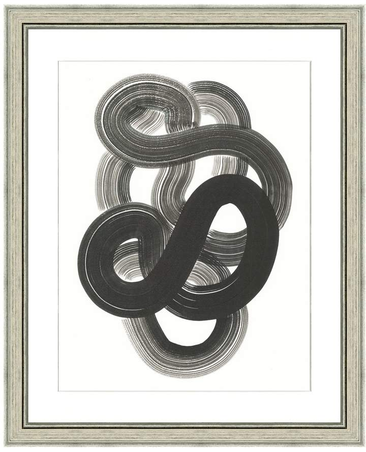 Buy Art Source Black Loop Abstract Print I (Framed Giclee)!