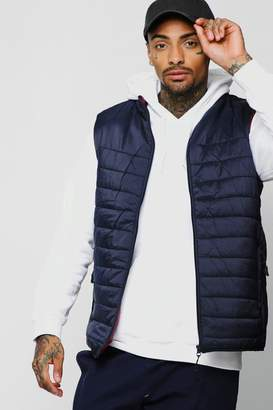 boohoo Funnel Neck Quilted Gilet