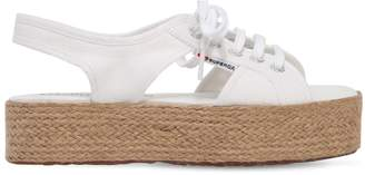 Superga 40MM CANVAS PLATFORM SANDALS