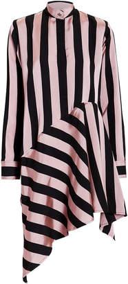 Marques Almeida Marques' Almeida Striped Asymmetrical Dress