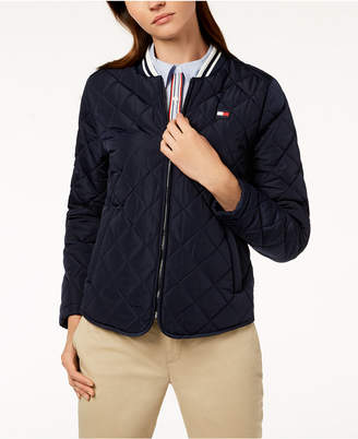 Tommy Hilfiger Quilted Bomber Jacket, Created for Macy's