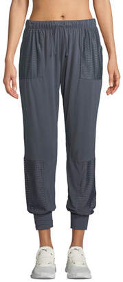 Onzie Mesh-Panel Drawstring Jogger Sweatpants
