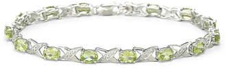 JCPenney FINE JEWELRY Genuine Peridot & Diamond-Accent Bracelet