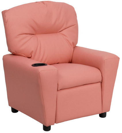 Flash Furniture Contemporary Kids Recliner with Cup Holder