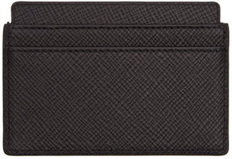 Smythson Black Panama Card Holder