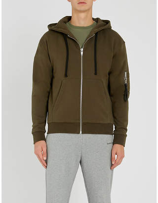 1cbcd98bf The Kooples Pocket-detail cotton-jersey hoody
