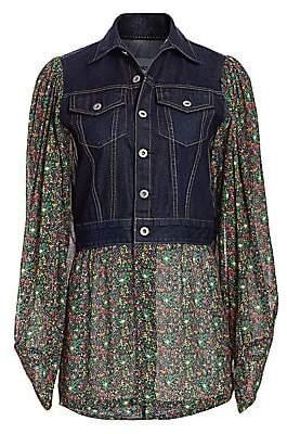Junya Watanabe Women's Floral Denim Combo Jacket