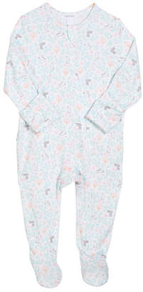 Angel Dear Floral Bunny Zip-Front Footie Pajamas, Size 0-9 Months