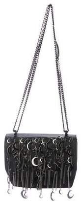 Thomas Wylde Embellished Flap Leather Crossbody Bag