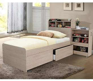 Light Oak Galway Bed with Storage Size / Mattress included: King Single / Mattress Included