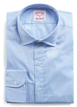 Hamilton Blue Solid Pima Twill Shirt