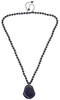 Lola Rose Missy Navy Blue Tigers Eye Blue Sandstone Necklace of 45cm