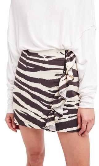 Women's Free People Ruffle Babe Miniskirt