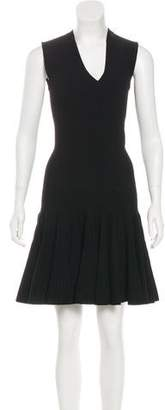Alaia Rib Knit Fit and Flare Dress