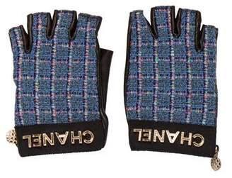 Chanel 2017 Tweed Fingerless Gloves