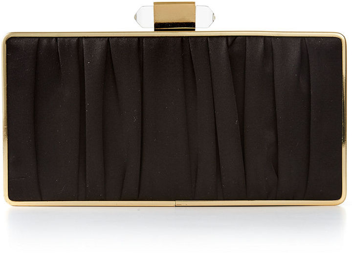 Sondra Roberts Pleated Satin Minaudière