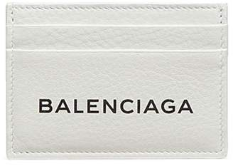 Balenciaga 'Everyday' logo embossed leather card holder