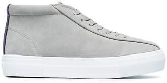 Eytys Grey Mother Suede Mid-Top Sneakers
