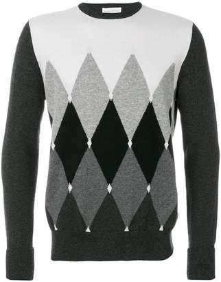 Ballantyne diamond patterned sweater
