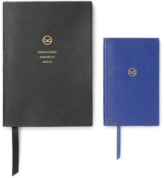 Smythson Kingsman + Set Of Two Soho And Panama Cross-Grain Leather Notebooks