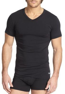Versace Basic V-Neck Tee $50 thestylecure.com