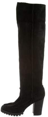 Fendi Suede Shearling Boots