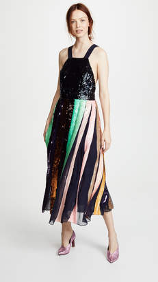 Tibi Beaded Sequin Overall Dress
