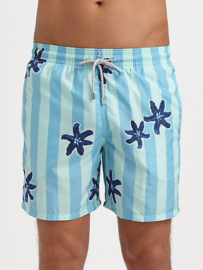 Vilebrequin Mahina Stripes & Starfish Swim Trunks