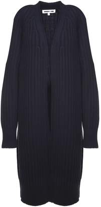 McQ Ribbed Wool And Cotton-blend Cardigan