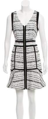 Rebecca Taylor Bouclé Zip-Accented Dress w/ Tags