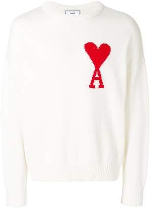 Ami Alexandre Mattiussi oversized Ami de Coeur crewneck sweater