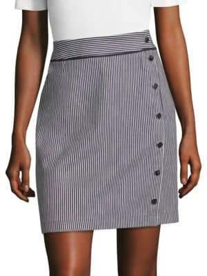 BOSS Denim Striped Skirt