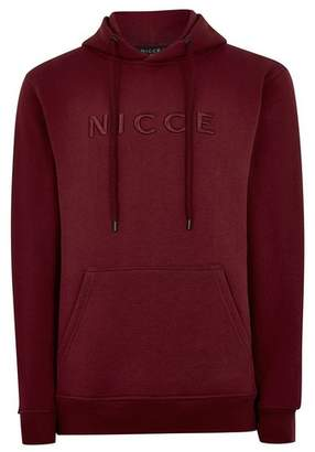 Topman Mens NICCE Burgundy Embroidered Hoodie