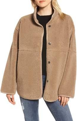 Velvet by Graham & Spencer Reversible Lux Faux Shearling Coat