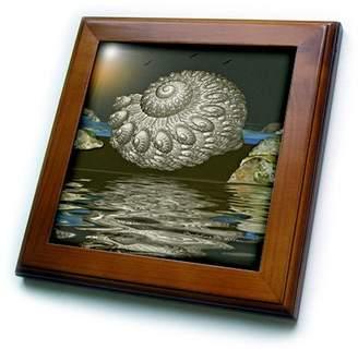 Pool' 3dRose ft_9115_1 SmudgeArt Art Designs - Tidal Pool - Framed Tiles