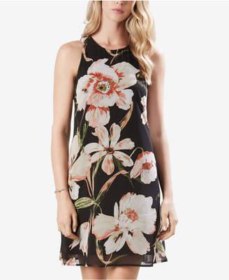 Karen Kane Sheer Floral-Print Dress