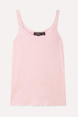Theory Linen-blend Tank - Pastel pink