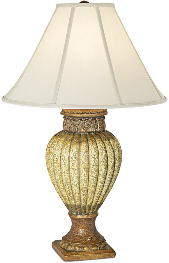 Pacific Coast Ribbed Jar With Leaves Table Lamp