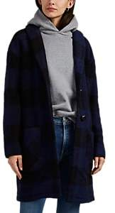 Barneys New York WOMEN'S OVERSIZED PLAID SWEATER COAT