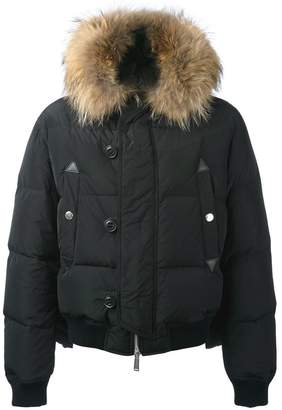 DSQUARED2 fur hood puffer jacket
