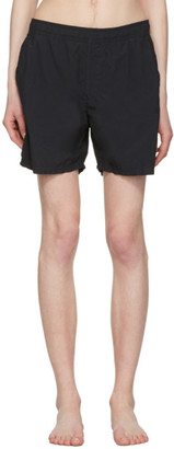 Stone Island Black Pocket Swim Shorts $150 thestylecure.com
