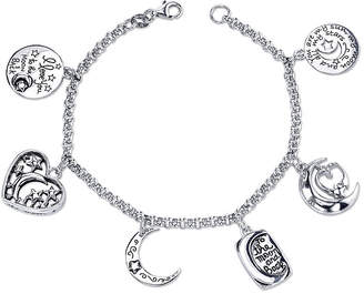 FINE JEWELRY Inspired Moments Sterling Silver Love You to the Moon Charm Bracelet