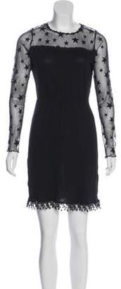 Anna Sui Long Sleeve Mini Dress Black Long Sleeve Mini Dress