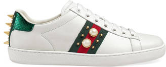 Ace studded leather low-top sneaker $650 thestylecure.com