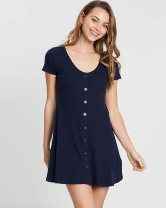 Hollister Short Sleeve Button-Through Dress